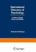 Pdf International Directory of Psychology Telecharger