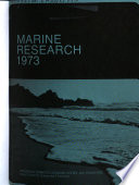 Marine Research  1973 Book