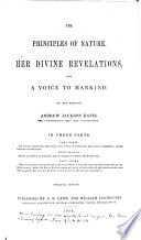 The Principles Of Nature Her Divine Revelations And A Voice To Mankind