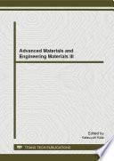 Advanced Materials And Engineering Materials Iii Book PDF