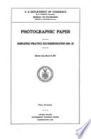 Photographic paper : simplified practice recommendation R98-29