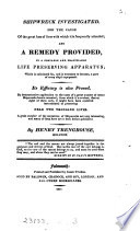 Shipwreck investigated     and a remedy provided in a     life preserving apparatus