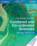 Books - Cambridge Igcse� Combined And Co-Ordinated Sciences Biology Workbook | ISBN 9781316631041