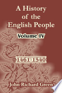 A History Of The English People 1461 1540