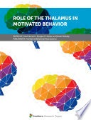 Role of the Thalamus in Motivated Behavior