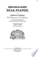 Bibliographie de la France, ou, Journal général de l'imprimerie et de la librairie