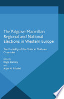 Regional and National Elections in Western Europe