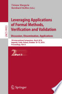 Leveraging Applications of Formal Methods  Verification and Validation  Discussion  Dissemination  Applications