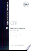 Code of Federal Regulations  Title 40  Protection of Environment  Pt  150 189  Revised As of July 1 2012