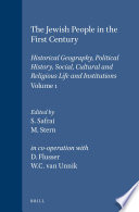 The Jewish People In The First Century Volume 1