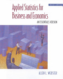 Applied Statistics for Business   Economics Using Excel