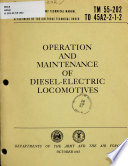 Operation and Maintenance of Diesel-electric Locomotives, 1965