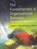 The Fundamentals of Organizational Behavior