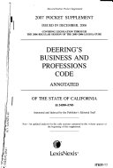 Business And Professions Code Annotated Of The State Of California Book PDF