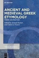 Ancient and Medieval Greek Etymology Pdf/ePub eBook