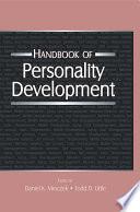 Handbook of Personality Development Book