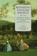 Remaking English Society