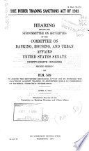 The Insider Trading Sanctions Act of 1983 Book PDF