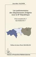 Pdf Les parlementaires des départements d'Algérie sous la IIIe République Telecharger