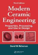 Modern Ceramic Engineering
