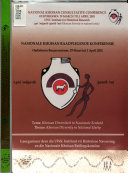 Nasionale Khoisan Raadplegende Konferensie, Oudtshoorn Burgersentrum, 29 Maart to 1 April 2001