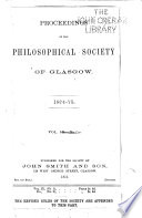 Proceedings of the Royal Philosophical Society of Glasgow