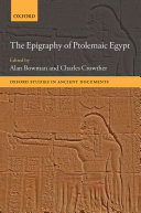 Pdf The Epigraphy of Ptolemaic Egypt Telecharger