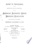 Report Of Proceedings Of The Annual Meeting