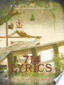 714 Lyrics Book Book