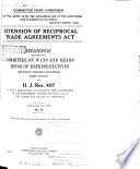 Extension of Reciprocal Trade Agreements Act