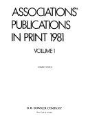 Associations Publications In Print