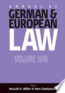 Annual Of German And European Law