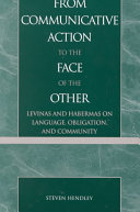 Pdf From Communicative Action to the Face of the Other