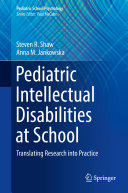 Pdf Pediatric Intellectual Disabilities at School