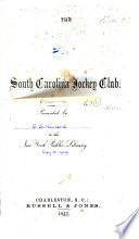 History Of The Turf In South Carolina