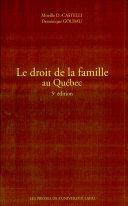 Le droit de la famille au Québec