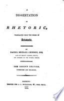 A dissertation on rhetoric, Rhetoric English