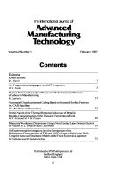 The International Journal, Advanced Manufacturing Technology