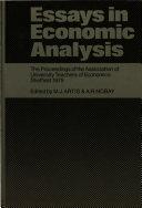 Essays in Economic Analysis