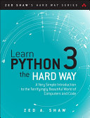 Learn Python 3 the Hard Way Pdf/ePub eBook