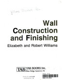 Wall Construction and Finishing
