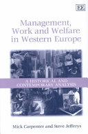Management  Work  and Welfare in Western Europe Book PDF