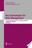 Key Technologies for Data Management