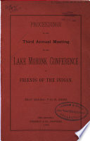 Proceedings of the     Annual Meeting of the Lake Mohonk Conference of Friends of the Indian