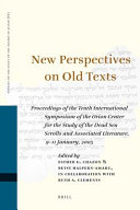 Pdf New Perspectives on Old Texts