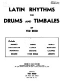 Latin Rhythms for Drums and Timbales Book