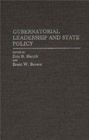 Gubernatorial Leadership and State Policy