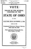 Ohio Election Statistics