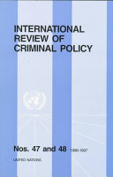 International Review Of Criminal Policy Nos 47 And 48 1996 1997