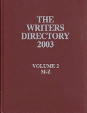The Writers Directory 2003